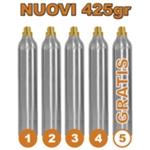 5 Bombole Nuove Ricaricabili 425gr. per Gasatore