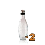 2 Bottiglie in Vetro da 750ml. per Gasatore PENGUIN