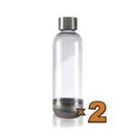 2 Bottiglie da 1lt. per Gasatore