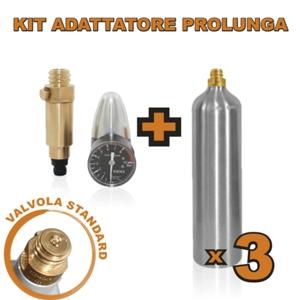 Kit Adattatore Prolunga per Gasatore (valvola tipo B)