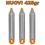 3 Bombole Nuove Ricaricabili 425gr. per Gasatore