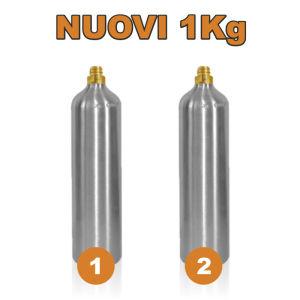 2 Bombole Nuove Ricaricabili da 1Kg (solo per Gasatore JET)