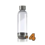 4 Bottiglie da 1lt. per Gasatore
