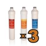 Set 3 Cambi Filtri per Osmosi Inversa TWIST