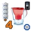 Caraffa filtrante Brita Marella Cool Rossa + 4 filtri
